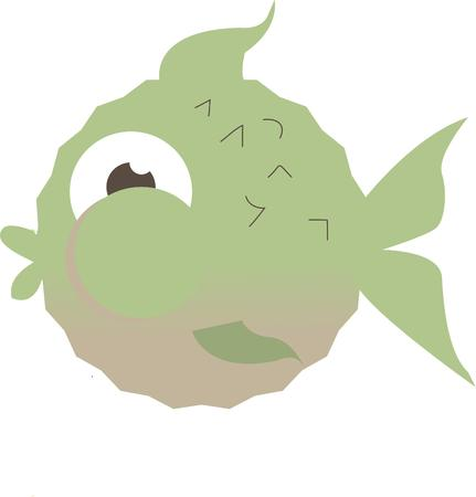 stealer: Add a touch of nature to your wallpapers or apparel projects with this little fish.  His sweet and unusual face make him a show stealer