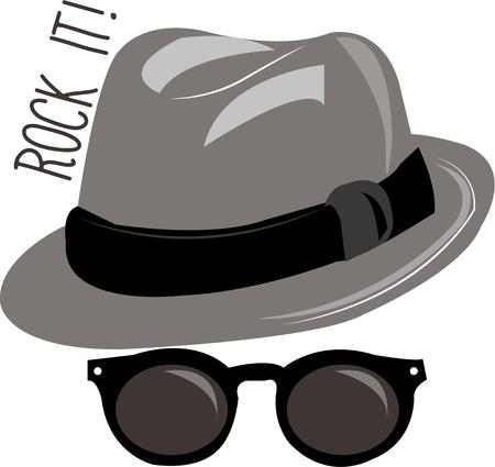 topper: Become a Blues Brother a spy even a sharp dressed man with these shades and hat.  A perfect disguise for your projects like invitations or goodie bags