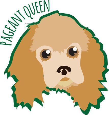 welpe: Sie k�nnen einfach nichts falsch machen, wenn Sie mit einem tr�umerischen Augen pup versch�nern Diese sch�nen Hund f�gt seinen Charme, um Ihre Lieblingskleiderkreationen gro� auf Taschen zu Illustration