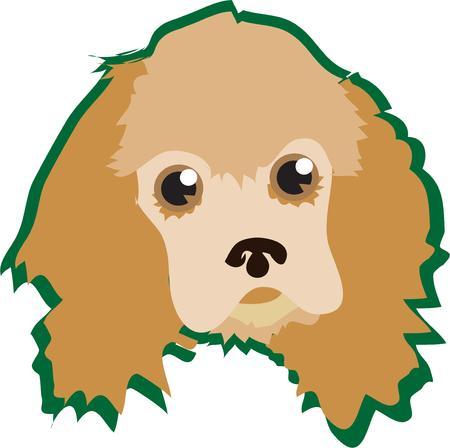 mutt: Semplicemente non si pu� sbagliare quando si abbellire con un cucciolo dagli occhi sognanti Questo bel cane aggiunge il suo fascino per le tue creazioni di abbigliamento preferito grande su borse troppo