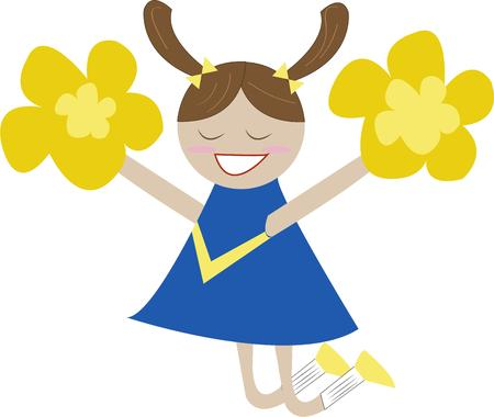 sure: Yeah team  This super cute cheerleader is sure to add some spirit to your team projects.