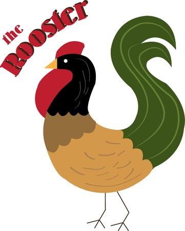 barnyard: The rooster is usually the prettiest bird in the barnyard but this stylish rooster is the prettiest ever  Sure to be a great addition to kitchen gear or curtains