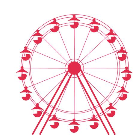 carnival ride: Send your creative instincts soaring with this classic ferris wheel design.  The one color and simple line elements make it an eye catching add to apparel or bags.