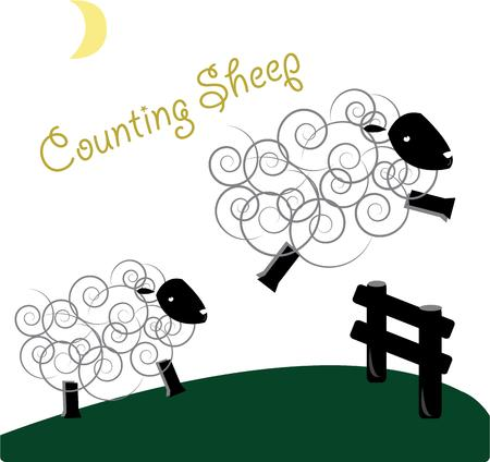 nightly: These fuzzy sheep line up for their nightly fence leap.  This is the ultimate sleep aid  We love this sweet design as a sheet decoration.