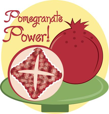 fab: Love is like a pomegranate it can either be sweet or it could be bitter but you will never know untill you have taken  a byte of it.  Add this fab fruit to your cooking gear projects Illustration