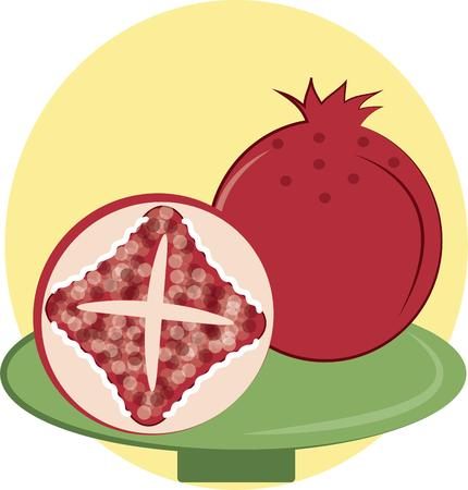 byte: Love is like a pomegranate it can either be sweet or it could be bitter but you will never know untill you have taken  a byte of it.  Add this fab fruit to your cooking gear projects Illustration