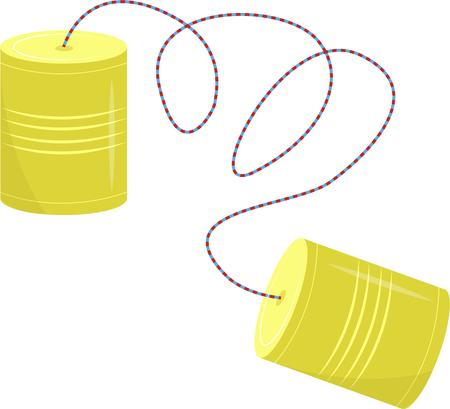 tin can phone: Tin cans connected by a string are a throw back to a fun childhood memory.  This sentimental graphic is just perfect for your special crafty creations.