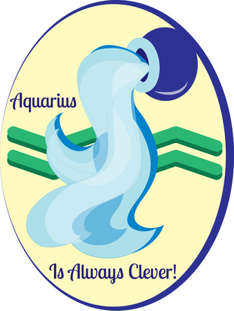 water bearer: The eleventh sign of the zodiac in astrology is Aquarius.  Create something amazing for your favorite Aquarius. Illustration