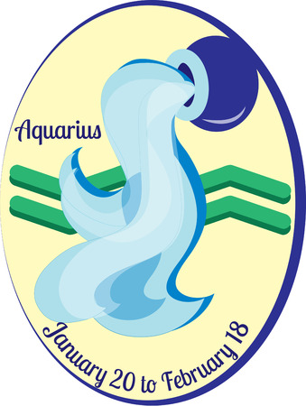 prophecy: The eleventh sign of the zodiac in astrology is Aquarius.  Create something amazing for your favorite Aquarius. Illustration