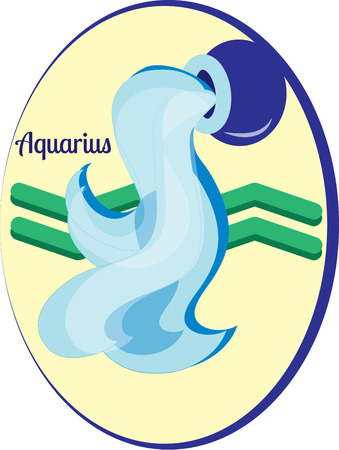 eleventh: The eleventh sign of the zodiac in astrology is Aquarius.  Create something amazing for your favorite Aquarius. Illustration