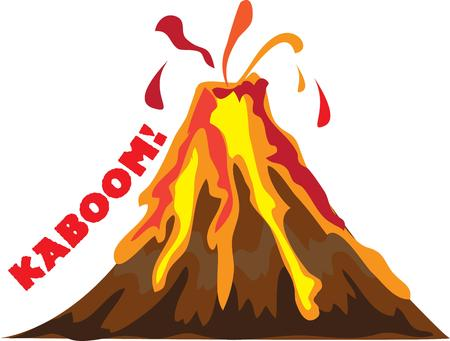 adds: An erupting volcano adds spark to your work.
