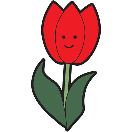 stately: A sure sign of spring is a lovely tulip.  You just have to smile at the stately bloom.  These flowers are always a perfect embellishment for apparel.