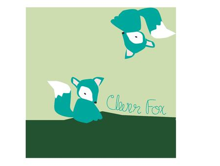 seem: These cute little foxes seem to dance around this box.  Artistic use of color make this design a lovely standout.  Perfect dcor design.