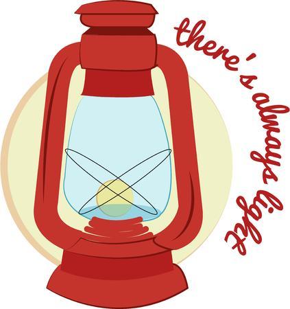 ligh: A lantern Illustration