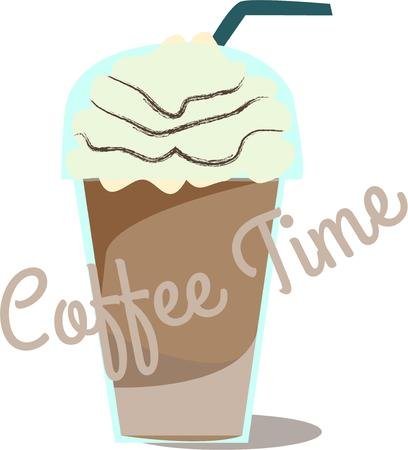 frozen drink: Coffee with a twist Illustration