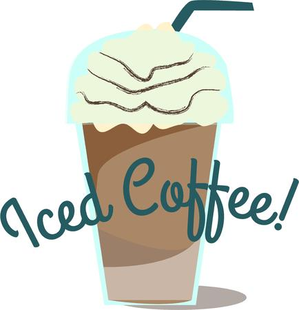 frozen drink: Iced coffee