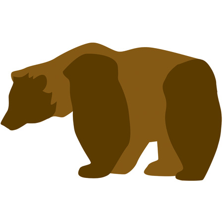 outdoorsman: This beautiful brown bear in silhouette adds a perfect wilderness element to creations for any outdoorsman.  Created in shades of brown this bear is an artistic prize. Illustration