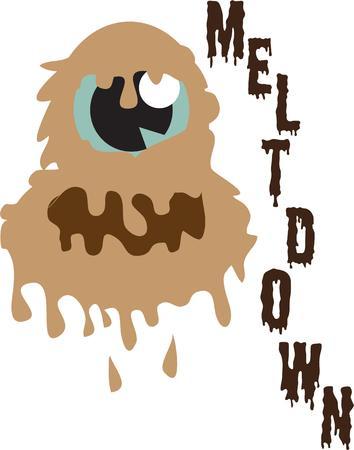 meltdown: Slimy scary monster