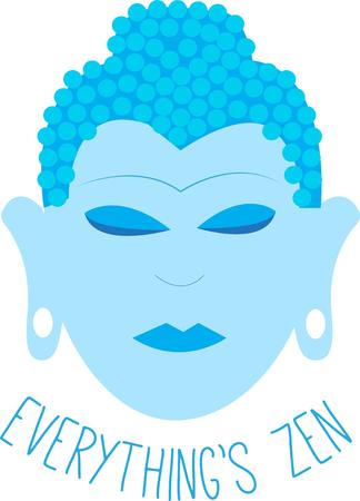 buddha kopf: This shades of blue Buddha adds an Asian flair to your projects.  Elegant and peaceful.