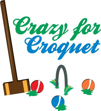 wicket: Croquet  Illustration