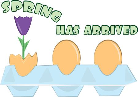 sprung: Spring has sprung and what a better way to announce the season than hatched eggs and blooms.  Super cute on an Easter basket.