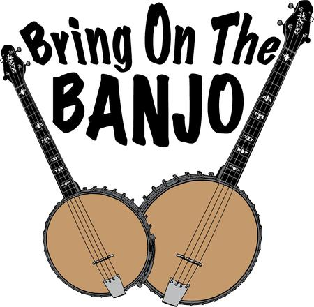 stringed instrument: Banjo Illustration