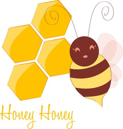honeycomb like: Pleasant words are like a honeycomb, Sweetness to the soul and health to the bones. Illustration