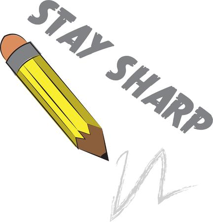 writing instruments: Sharp pencil Illustration