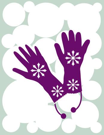 the mittens: Mitones de invierno