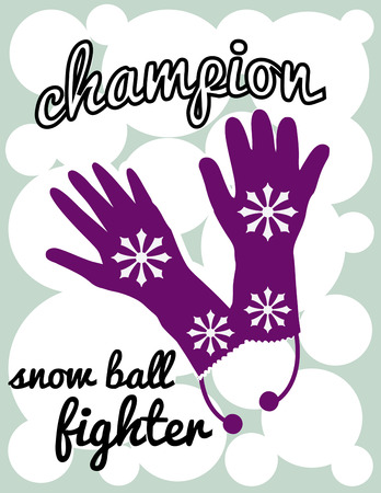 accessory: Snowflakes on mittens  what a great idea for winter wear  These pretty purple gloves are the perfect accessory for decorating winter wear.