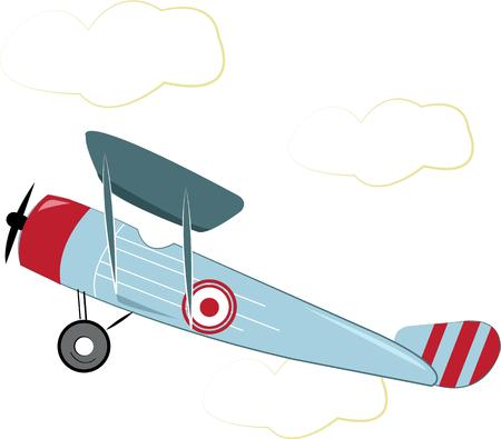grownup: This classic single engine airplane is a favorite for hobby pilots.  This design is perfect for apparel decoration for grownup and kid pilots alike. Illustration