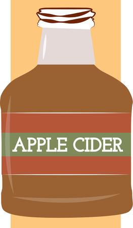 cider: Bottle of apple cider
