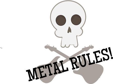 bony: Skull and crossed guitars
