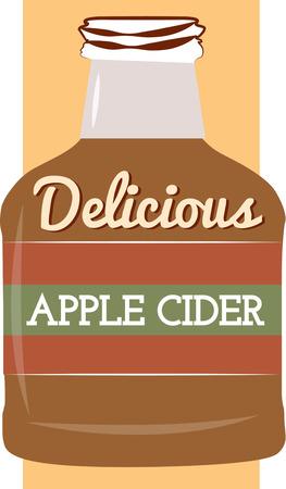 cider: A big bottle apple cider