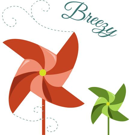 breezy: Colorful pinwheels