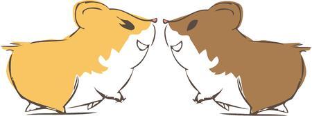 hamsters: Hamsters in love