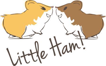 hamsters: Hamsters in love Illustration