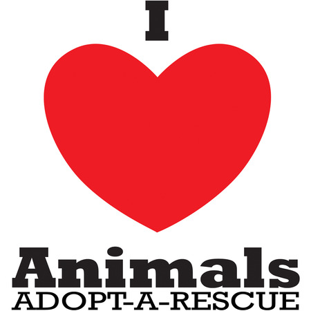 sweats: This striking graphic conveys a message of caring and love toward all animals.  A perfect addition to sweats and jackets for any animal friend.