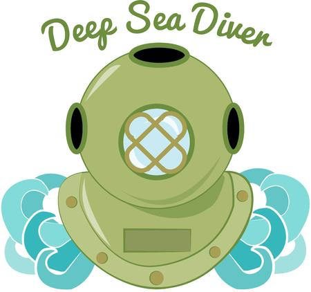 adventurer: Take a deep sea adventure with this diving suit.  What a great design for your favorite adventurer.