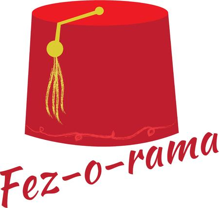 egyptian culture: Traditional fez hat  Illustration