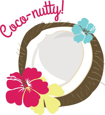 laurier rose: Noix de coco et d'hibiscus tropical