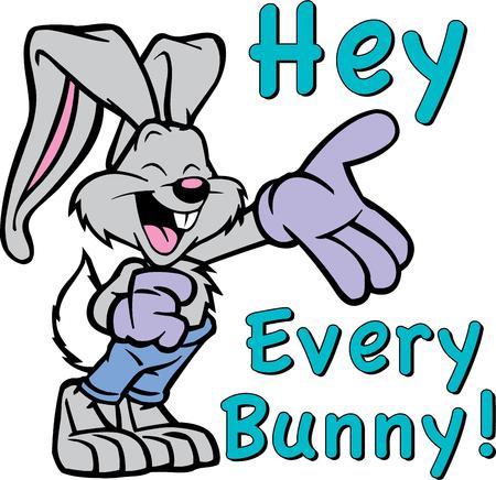 leveret: Cartoon bunny