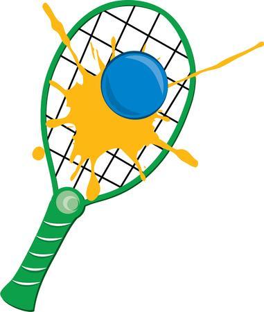racquetball: juego de racquetball Vectores