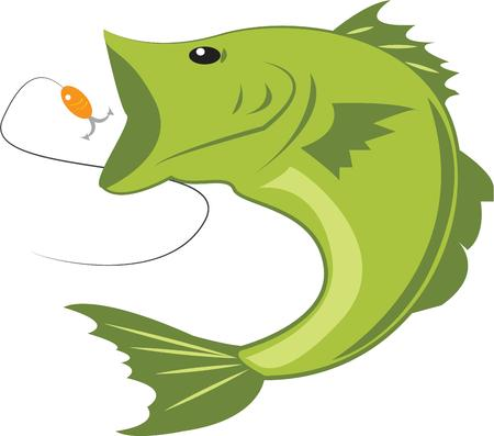 hes: This big bass is not just the catch of the day hes the catch of the year  This big fish is perfect for your favorite angler. Illustration