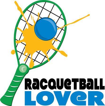 racquetball: Raqueta y pelota