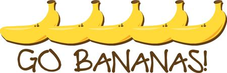 cute border: Chi avrebbe mai pensato banane fanno un confine cos� carino li Aggiungi al bordo di una tovaglietta o tovagliolo per una divertente decorazione della cucina. Vettoriali