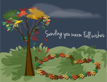 season: Autumn season Illustration
