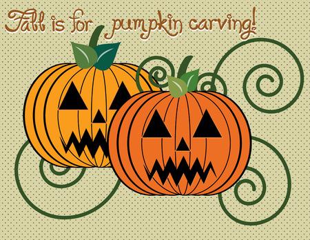carve: Pumpkin carve halloween Illustration