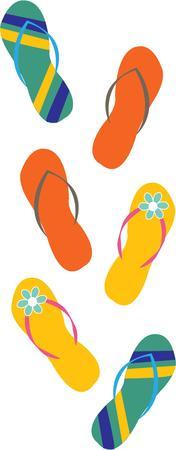 thong: Flip flops Illustration