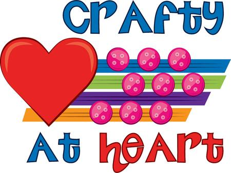 clasp: Hearts and craft Illustration